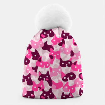 Thumbnail image of Ghostly camouflaging cats are watching you in pink Beanie, Live Heroes