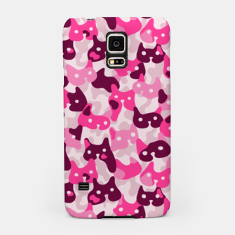 Thumbnail image of Ghostly camouflaging cats are watching you in pink Samsung Case, Live Heroes