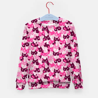 Thumbnail image of Ghostly camouflaging cats are watching you in pink Kid's sweater, Live Heroes