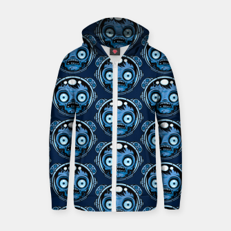 Thumbnail image of Zombie Astronaut Pattern Zip up hoodie, Live Heroes