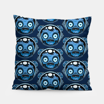 Thumbnail image of Zombie Astronaut Pattern Pillow, Live Heroes