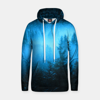 Thumbnail image of Magical fog in snowy spruce forest Hoodie, Live Heroes