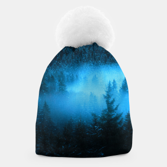 Thumbnail image of Magical fog in snowy spruce forest Beanie, Live Heroes