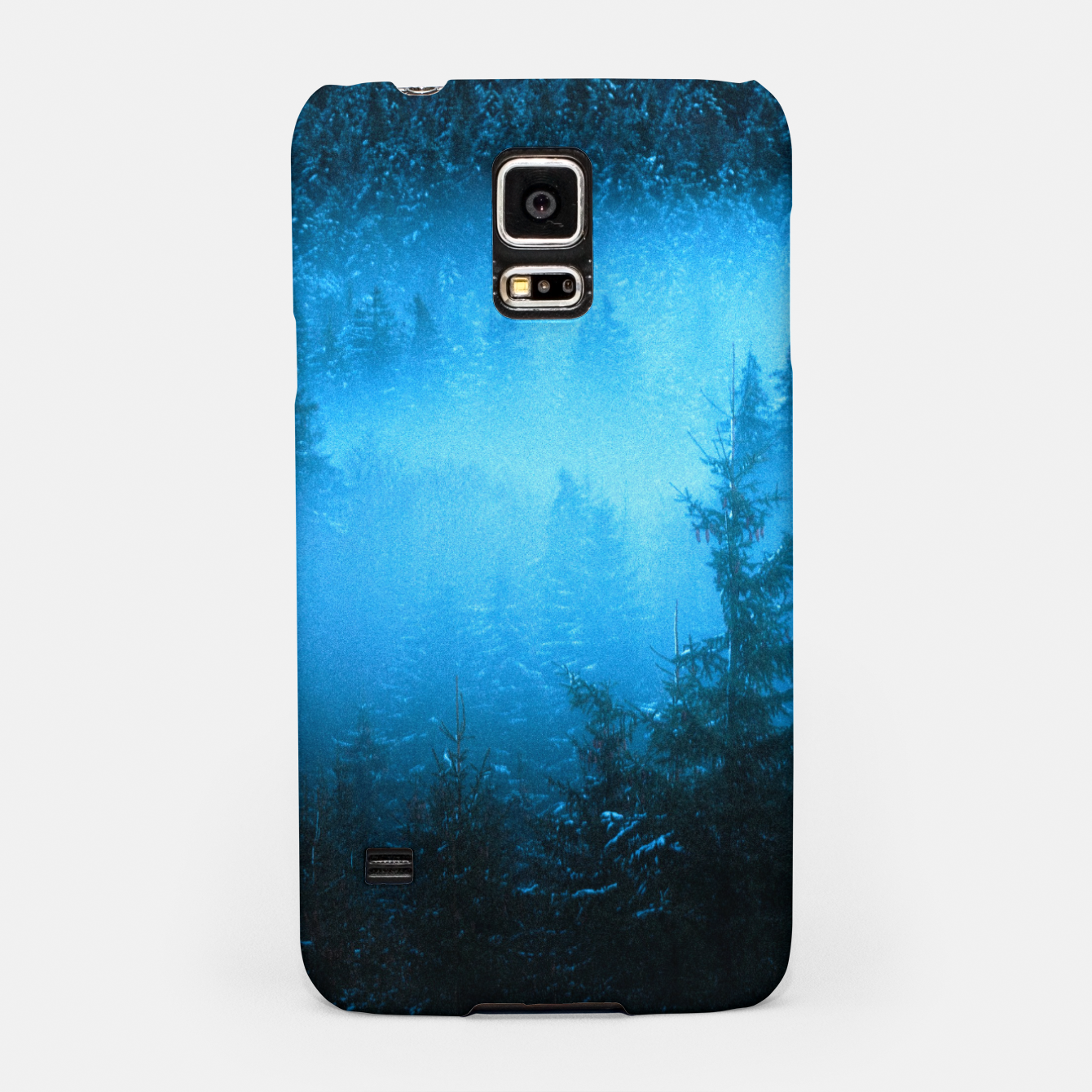 Foto Magical fog in snowy spruce forest Samsung Case - Live Heroes
