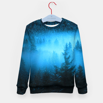 Miniatur Magical fog in snowy spruce forest Kid's sweater, Live Heroes