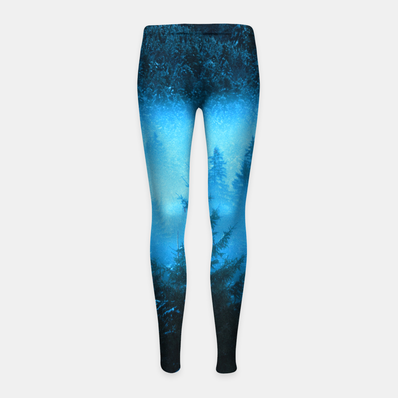 Foto Magical fog in snowy spruce forest Girl's leggings - Live Heroes
