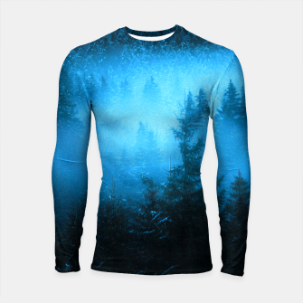 Thumbnail image of Magical fog in snowy spruce forest Longsleeve rashguard , Live Heroes
