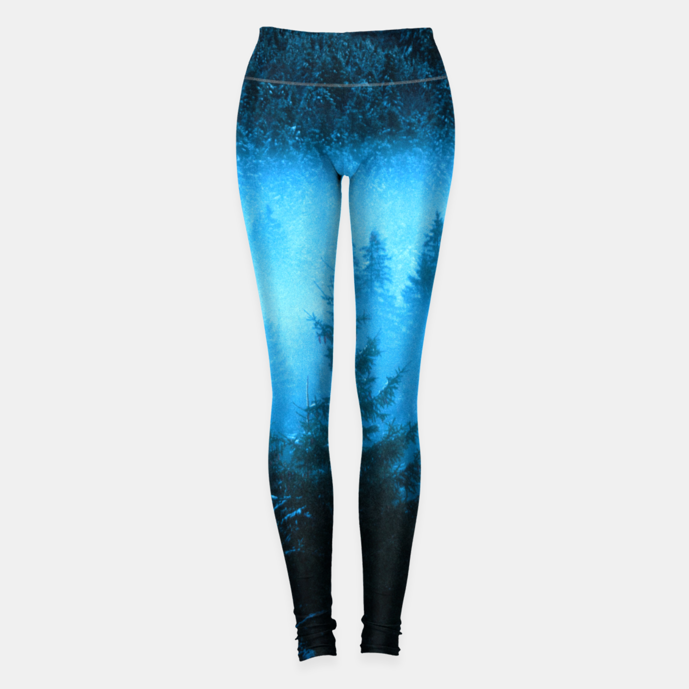 Foto Magical fog in snowy spruce forest Leggings - Live Heroes