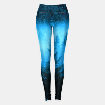 Thumbnail image of Magical fog in snowy spruce forest Leggings, Live Heroes