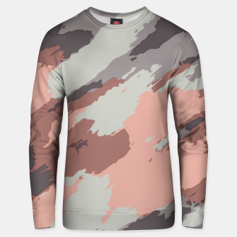 Miniaturka camouflage graffiti painting texture abstract pink grey and black Unisex sweater, Live Heroes