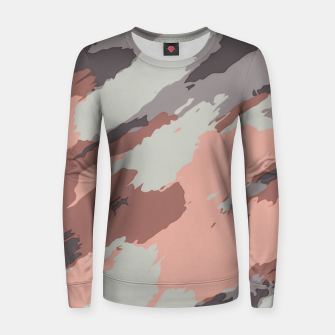 Miniaturka camouflage graffiti painting texture abstract pink grey and black Women sweater, Live Heroes