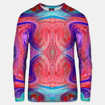 Miniature de image de psychedelic geometric symmetry abstract pattern in red pink blue Unisex sweater, Live Heroes