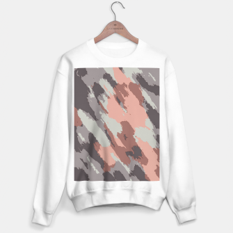 Miniaturka camouflage graffiti painting texture abstract pink grey and black Sweater regular, Live Heroes