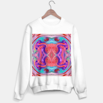 Miniature de image de psychedelic geometric symmetry abstract pattern in red pink blue Sweater regular, Live Heroes