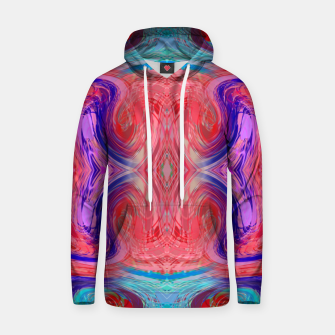 Miniature de image de psychedelic geometric symmetry abstract pattern in red pink blue Hoodie, Live Heroes