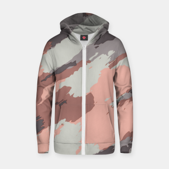 Miniaturka camouflage graffiti painting texture abstract pink grey and black Zip up hoodie, Live Heroes