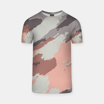 Miniaturka camouflage graffiti painting texture abstract pink grey and black T-shirt, Live Heroes