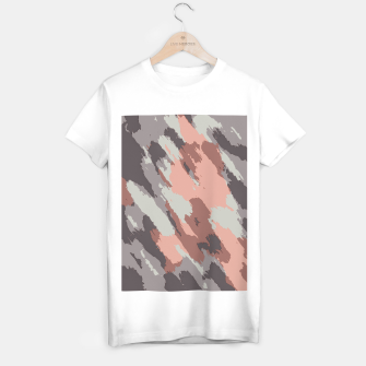 Miniaturka camouflage graffiti painting texture abstract pink grey and black T-shirt regular, Live Heroes