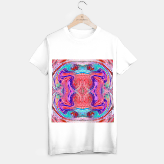 Miniature de image de psychedelic geometric symmetry abstract pattern in red pink blue T-shirt regular, Live Heroes