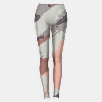 Miniaturka camouflage graffiti painting texture abstract pink grey and black Leggings, Live Heroes