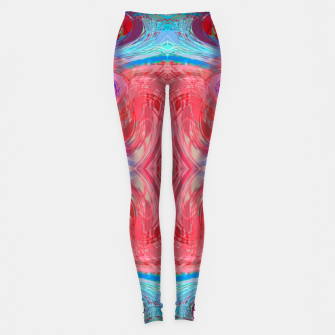 Miniature de image de psychedelic geometric symmetry abstract pattern in red pink blue Leggings, Live Heroes