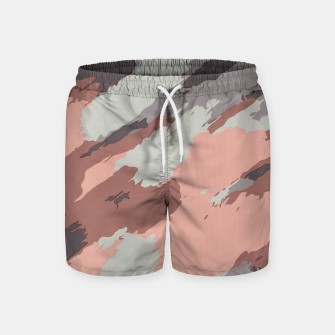 Miniaturka camouflage graffiti painting texture abstract pink grey and black Swim Shorts, Live Heroes