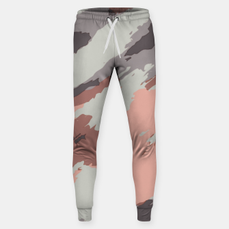 Miniaturka camouflage graffiti painting texture abstract pink grey and black Sweatpants, Live Heroes