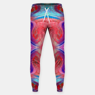 Miniature de image de psychedelic geometric symmetry abstract pattern in red pink blue Sweatpants, Live Heroes