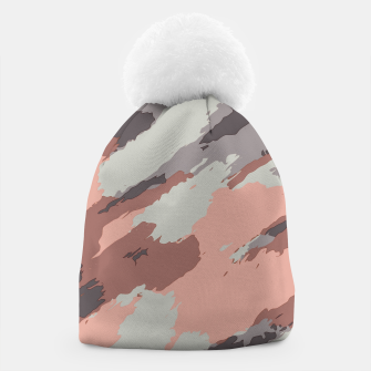 Miniaturka camouflage graffiti painting texture abstract pink grey and black Beanie, Live Heroes