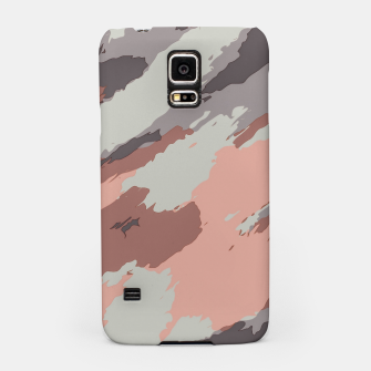 Miniaturka camouflage graffiti painting texture abstract pink grey and black Samsung Case, Live Heroes