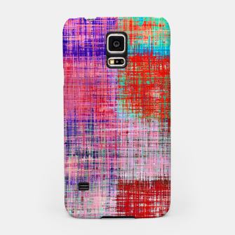 Thumbnail image of square plaid pattern texture abstract in red blue pink purple Samsung Case, Live Heroes