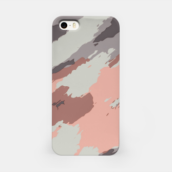 Miniaturka camouflage graffiti painting texture abstract pink grey and black iPhone Case, Live Heroes
