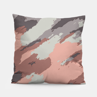 Miniaturka camouflage graffiti painting texture abstract pink grey and black Pillow, Live Heroes