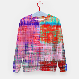 Thumbnail image of square plaid pattern texture abstract in red blue pink purple Kid's sweater, Live Heroes