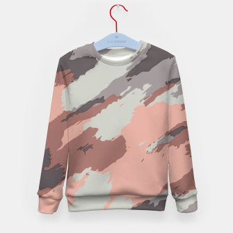 Miniaturka camouflage graffiti painting texture abstract pink grey and black Kid's sweater, Live Heroes
