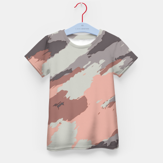 Miniaturka camouflage graffiti painting texture abstract pink grey and black Kid's t-shirt, Live Heroes