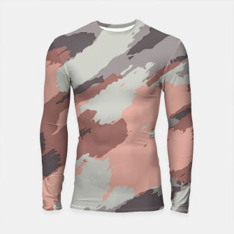 Miniaturka camouflage graffiti painting texture abstract pink grey and black Longsleeve rashguard , Live Heroes