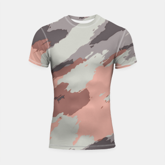 Miniaturka camouflage graffiti painting texture abstract pink grey and black Shortsleeve rashguard, Live Heroes