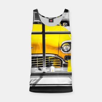 Thumbnail image of vintage yellow taxi car with black and white background Tank Top, Live Heroes