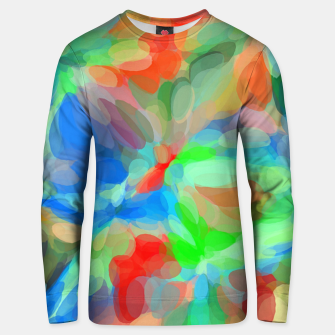 Thumbnail image of circle pattern abstract background in green blue orange yellow Unisex sweater, Live Heroes