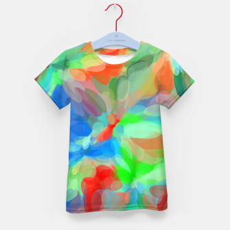 Miniatur circle pattern abstract background in green blue orange yellow Kid's t-shirt, Live Heroes