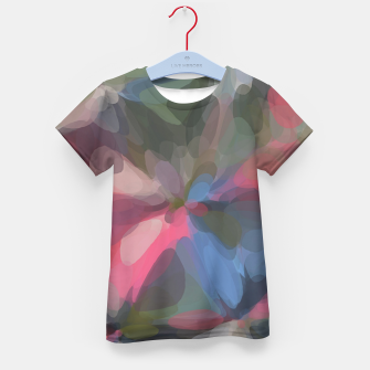 Miniatur circle pattern abstract background in green pink blue Kid's t-shirt, Live Heroes