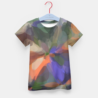 Miniatur circle pattern abstract background in green orange purple Kid's t-shirt, Live Heroes