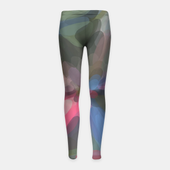 Miniatur circle pattern abstract background in green pink blue Girl's leggings, Live Heroes