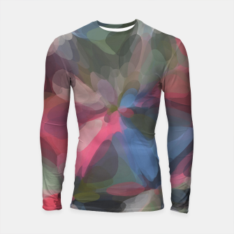Miniatur circle pattern abstract background in green pink blue Longsleeve rashguard , Live Heroes
