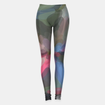 Miniatur circle pattern abstract background in green pink blue Leggings, Live Heroes