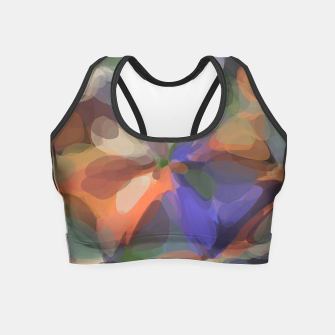 Miniatur circle pattern abstract background in green orange purple Crop Top, Live Heroes