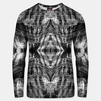 Thumbnail image of vintage geometric symmetry pattern abstract background in black and white Unisex sweater, Live Heroes