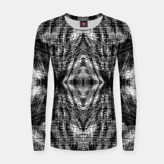 Thumbnail image of vintage geometric symmetry pattern abstract background in black and white Women sweater, Live Heroes