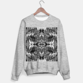 Thumbnail image of vintage geometric symmetry pattern abstract background in black and white Sweater regular, Live Heroes